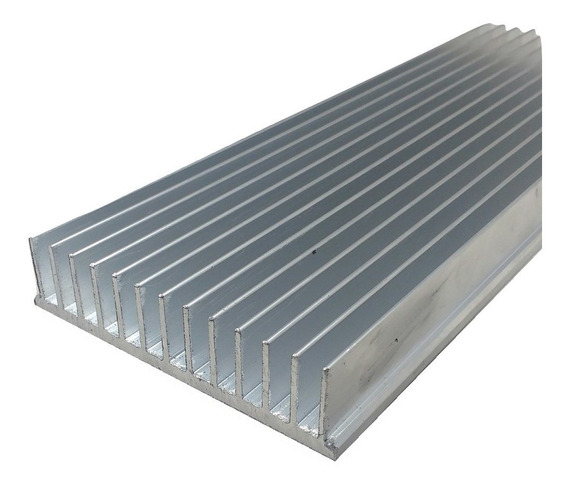 Dissipador Calor Aluminio 25cm Comp.x 10,4cm Larg.x 2,5 Alt