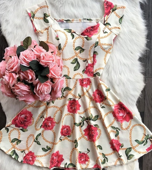 Vestido Boneca Rodado Gode Festa Decote Princesa Ciganinha