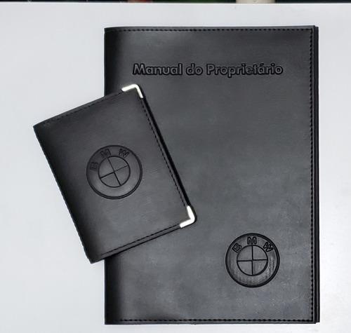 Imagem 1 de 8 de Kit Porta Manual E Porta Documento Couro Eco C Várias Marcas