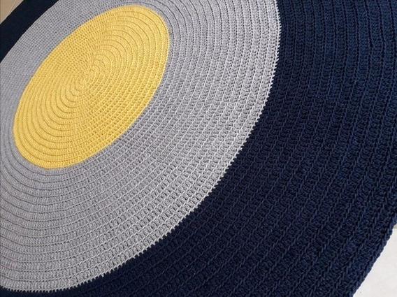 Tapete Redondo Em Croche 1,20m Frete Gratis