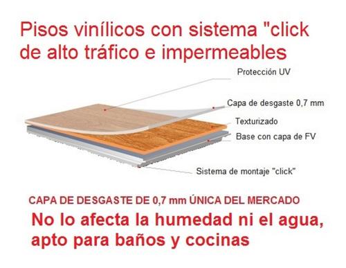 Piso Vinílico Sitema Click Impermeable Para Baños Y Cocinas
