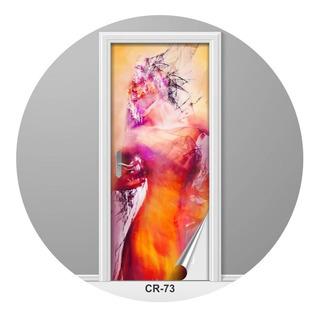 Adesivo Para Porta Incrível Bela Arte Moderna Criativo Cr-73
