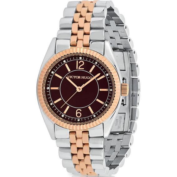 Relógio Victor Hugo Luxo Feminino - Vh10156lssr/12m