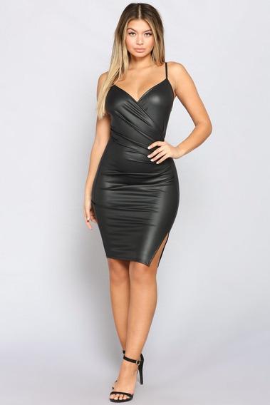 Vestidos En Cuero Licra Elegantes Para Damas
