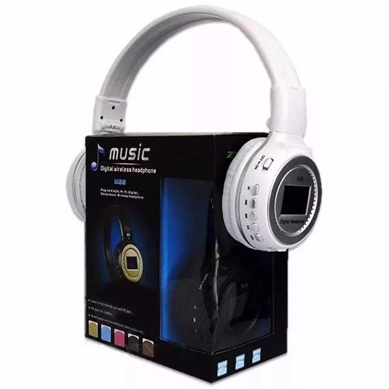 Fone Ouvido Mp3 Player Cartão Sd Fm Headfone Bluetooth N65