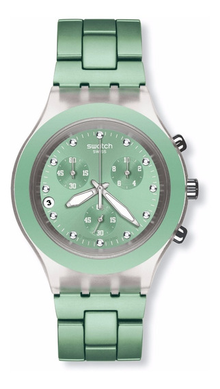 Relógio Swatch Full-blooded Mint Svck4056ag