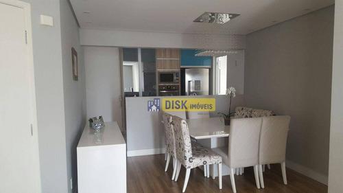 Apartamento Com 3 Dormitórios À Venda, 104 M² Por R$ 630.000,00 - Centro - São Bernardo Do Campo/sp - Ap1903