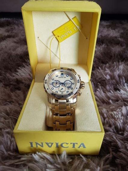 Relógio Invicta Pro Diver 0074 Ouro 18k Original Masculino