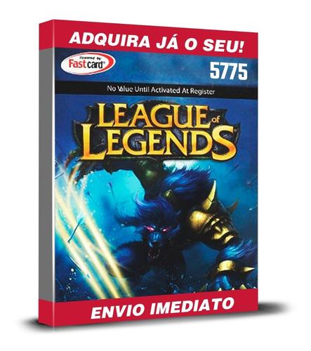 League Of Legends Cartão R$100 Reais Lol 5770 Riot Points Rp