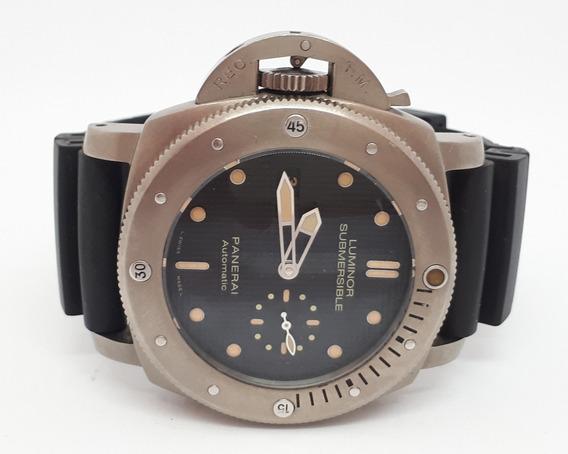 Relógio Panerai 46mm - Automático Maquina Eta - Titânio
