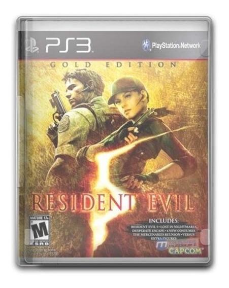 Game Play3 - Resident Evil 5 - Semi-novo Jogo Ps3