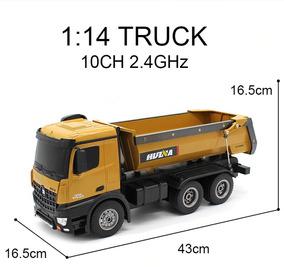 Caminhão Huina 1573 Rc 10 Canais Original 10k Envio Imediato