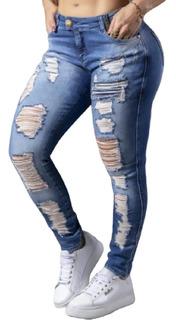 Linda Calça Boy Friend Destroyed Pit Bull Jeans