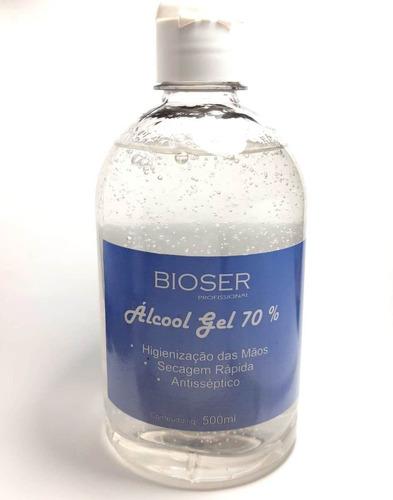 3 Álcool Gel 70 % Higienizador 500ml Neutro Pronta Entrega