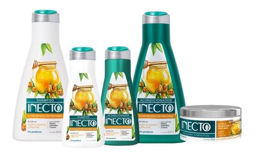 Set Shampoo Acondicionador 400 200ml Y Máscara Inecto Elixir
