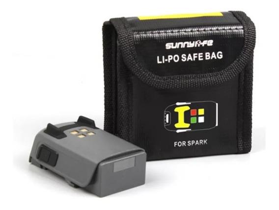 Bolsa Caixa Saco Capa Proteção Armazenamento Portatil Calor Antichamas Explosão Safe Bag 2 Bateria Lipo Drone Dji Spark