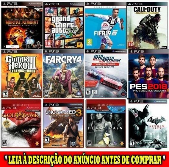 Jogos De Ps3 Pacote Com 800 Jogos Originais Leia Descrição