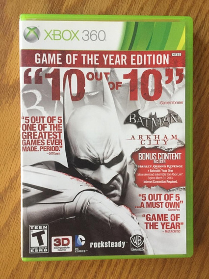 Batman Arkham City Xbox 360 Mídia Física Original