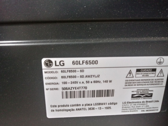 Tv Lg 60lf6500 Smart 60 Tela Quebrada.