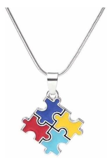 Colar Da Igualdade Autismo Simbolo Pingente Quebra Cabeça