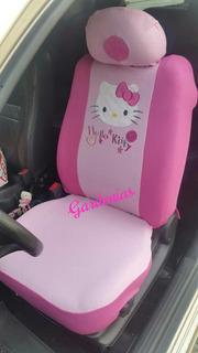 Forro De Asientos Para Carro De Hello Kitty