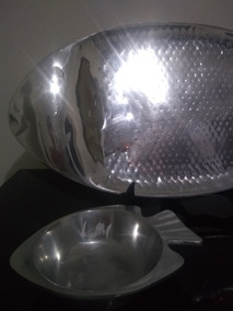 Travessas De Alumínio Batido,fundido 43x27cm