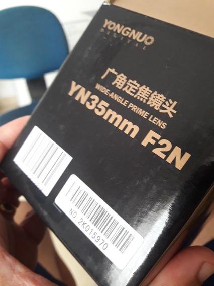 Objetiva Yongnuo Nikon- 35mm 2.0 Frete Grátis