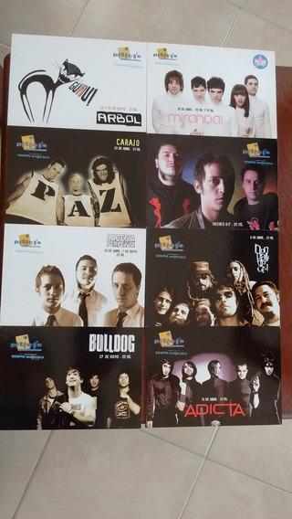 Lote De Publicidades Tipo Postal De Rock Nacional