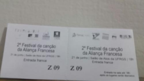 Ingresso Segundo Festival Da Aliança Francesa