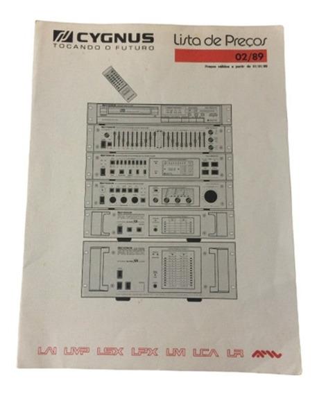 Raro Folheto Folder Manual Da Linha De Preço Cygnus - Digital!!