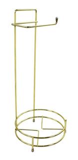 Porta Papel Higiênico Lixeiras Até 5 Litros Redonda Dourado
