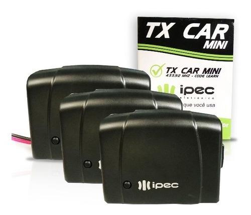 Tx Car Ipec 433mhz (3 Unid.) - Controle Para Farol De Carro