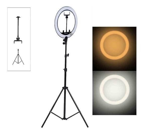 Ring Light Iluminador Portátil 30cm C/ Tripé 2 Mts E Sup Cel