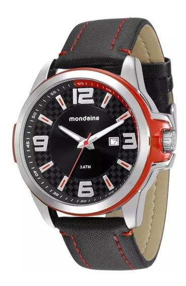 Relógio Masculino Pulseira De Couro Mondaine 76636g0mvnh2