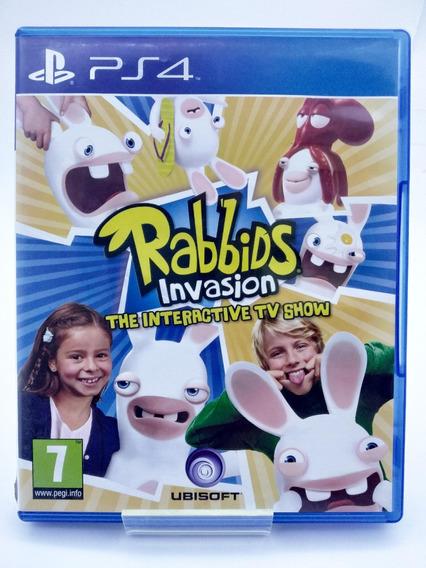 Rabbids Invasion The Interactive Tv Show Ps4 Mídia Física