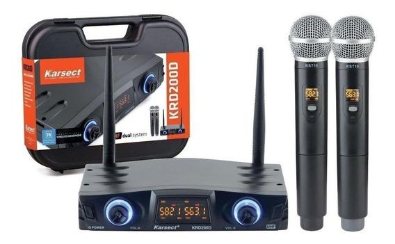 Microfones sem fios Karsect KRD-200DM