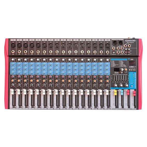 Mesa Soundvoice Ms-162 Eux 16 Canais Interface Usb Efeitos