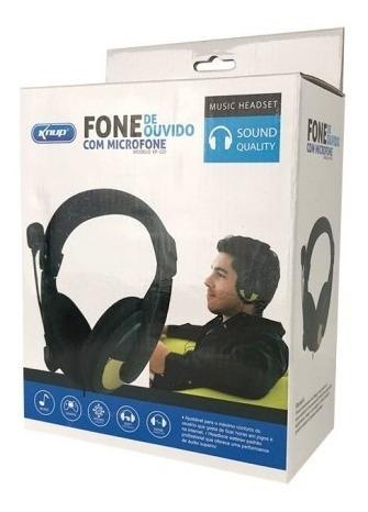 Fone Com Microfone Knup Headset Ajustavel Dobravel
