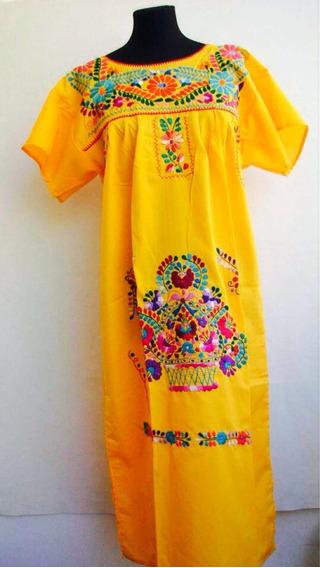 Vestidos Con Flores Mexicanos Largos