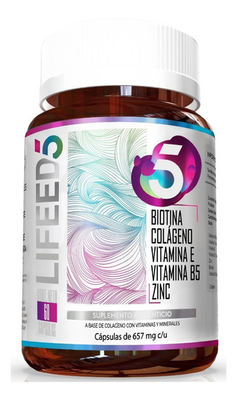 Lifeed Hair Con Biotina, Colageno, Zinc, Vitamina E Y Vit B5