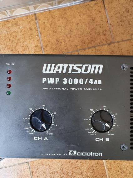 Amplificador Potência Wattsom Pwp 3000 / 4ab
