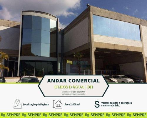 Imagem 1 de 30 de Andar Corporativo Para Alugar, 2.400 M² E 80 Vagas - Olhos D Água - Belo Horizonte/mg - Ac0075