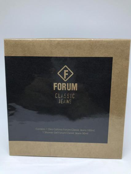Kit Forum Classic Jeans Perfume + Gel De Banho Original Novo