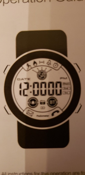 Reloj Digital Smartwatch Genérico Negro Todas Las Funciones