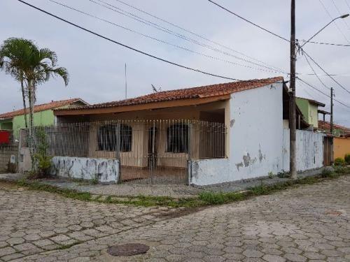 Casa Lado Praia Com 3 Dormitórios - Itanhaém/sp - Ca129