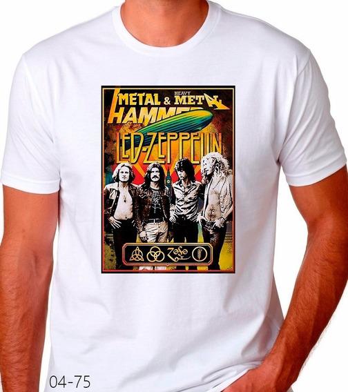 Playera Led Zeppelin Poster Metal Adulto Y Niños #04-75