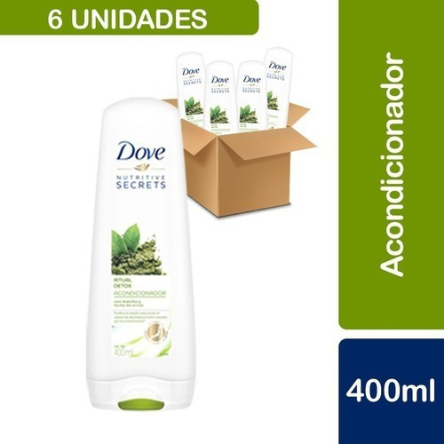 6 Acondicionadores Dove Ritual Detox Matcha 400ml