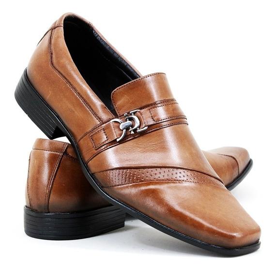 Sapato Sapatênis Social Boston Em Couro Cor Whisk