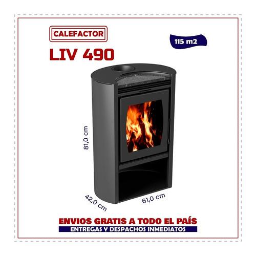 Imagen 1 de 6 de Calefactor Ecológico Doble Combustión Liv 490 Elíptico