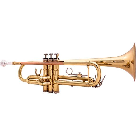 Trompete Barato Benson Btp-1l Laqueado Dourado Bb C/ Case